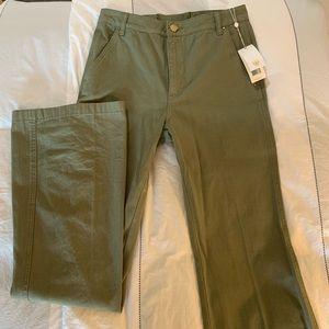 Tory Burch High Waisted Wide Leg Green Pants